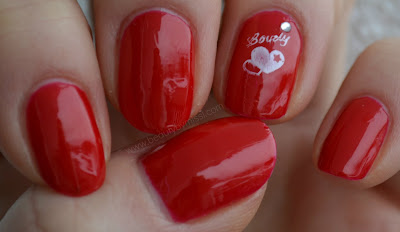 stamping, valentine´s day manicure, notd, nails of the day