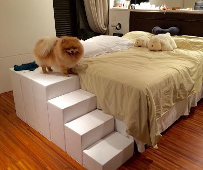 escadas para o pé da cama
