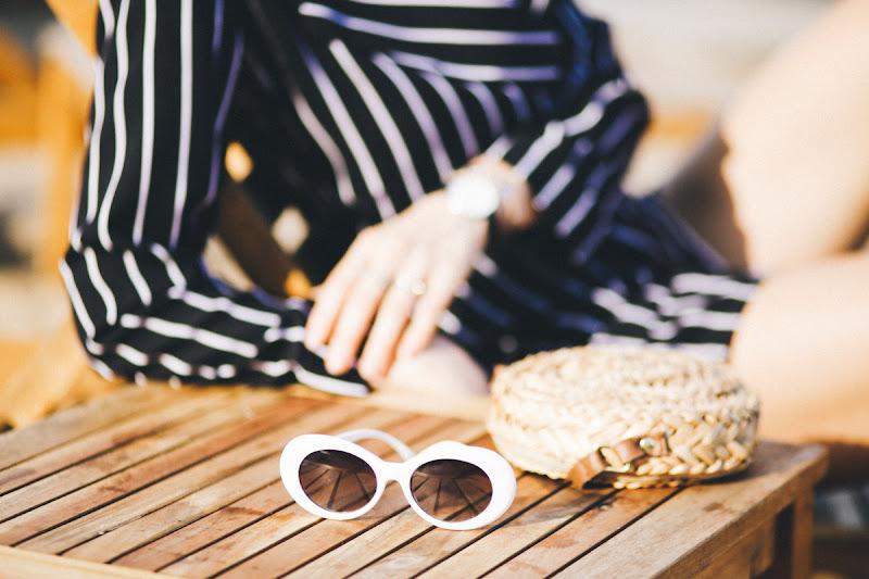 белые ретро очки как носить