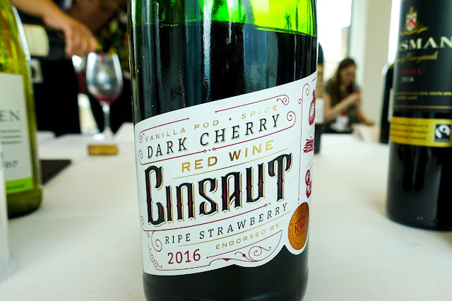 A close up of KVW Cinsaut red wine