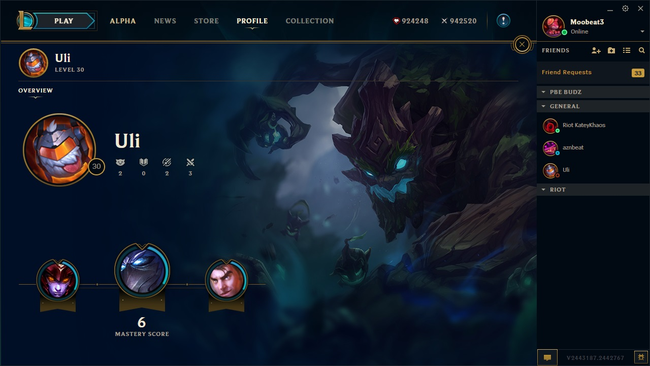 how to change profile background league of legends