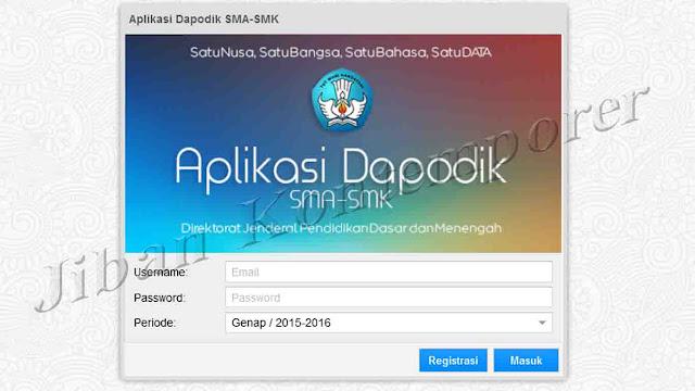 Cara Registrasi di Aplikasi Dapodik