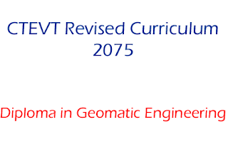 Diploma in Geomatics Engineering Syllabus New Revised 2075 - CTEVT