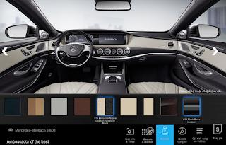 Nội thất Mercedes Maybach S600 2015 màu Vàng Porcelain / Đen (515)