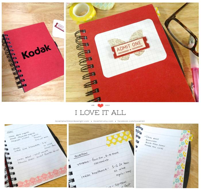 Altered Notebook with Washi Tape   iloveitallwithmonikawright.com