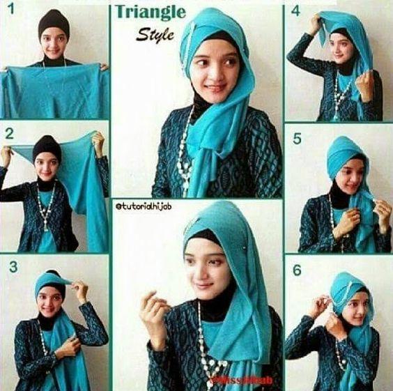 tutorial hijab kerudung paris style 6