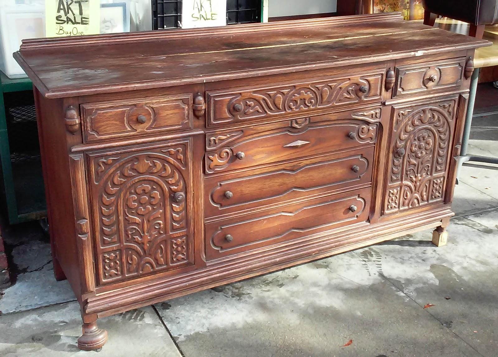 uhuru furniture collectibles sold solid oak buffet 115. Black Bedroom Furniture Sets. Home Design Ideas