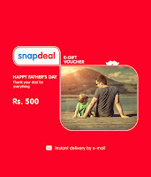 Snapdeal Fathers day Gift card Flat Rs100 off