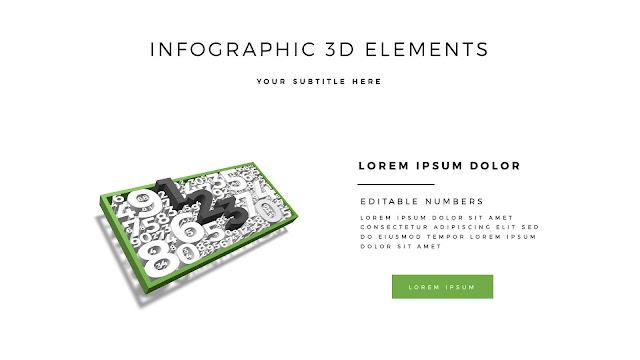 Fully Editable 3D Design Elements for PowerPoint Slide1