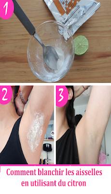 Comment blanchir les aisselles rapidement en utilisant du citron