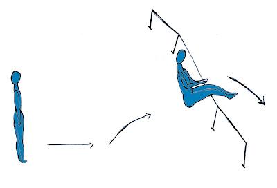Salto alto atletismo juego saltar cuerda