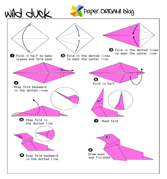 How to Make a Paper Duck - Easy Origami Duck Tutorial | 720x672