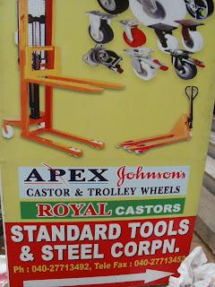 Castor Wheels ,Trolley Wheels dealer in Ranigunj  Secunderabad ,Standard Tools & Steel Corporation
