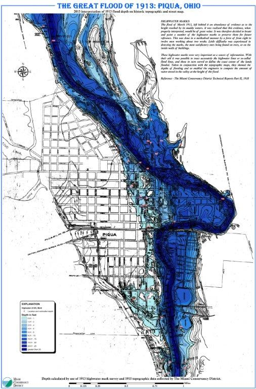 Our National Calamity The Great Easter 1913 Flood Mapping Disaster