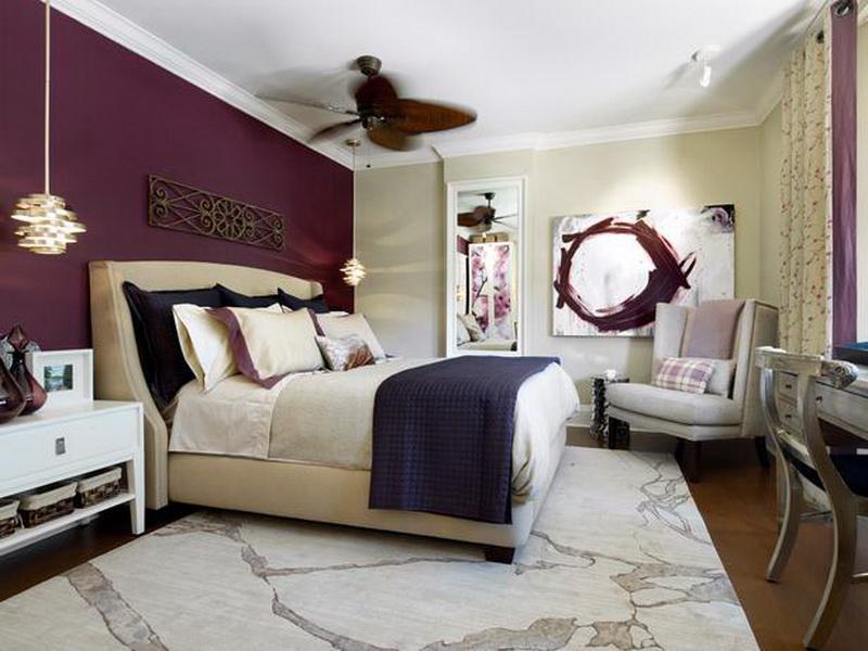 Phòng ngủ màu tím 05