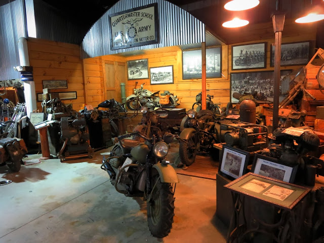 Military motorcycles at Wheels Through Time Museum