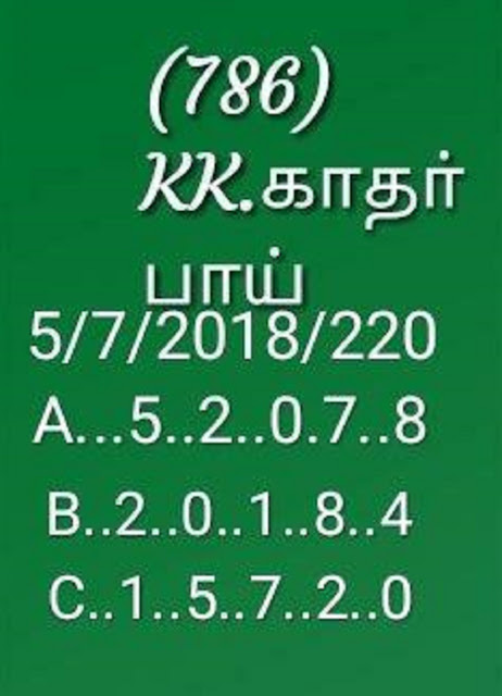 kerala lottery abc all board guessing by KK on 05-07-2018 karunya plus kn-220