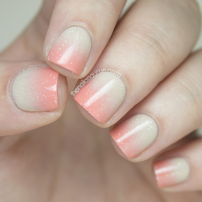 Gradient Nail Art: Well That's Just Peachy - The Nailasaurus