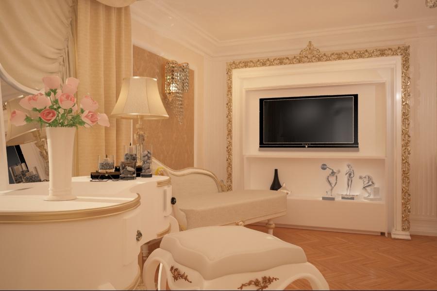 Nobili Design | Amenajari interioare case clasice - Amenajare interiara dormitor clasic Constanta.