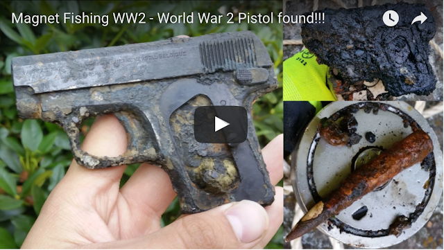 magnet fishing ww2 relics