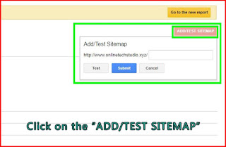 Add test sitemap-google search console