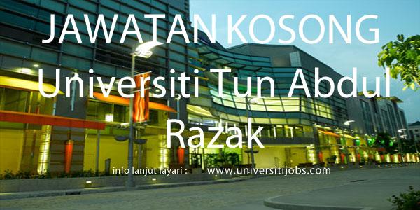 Jawatan Kosong Universiti Tun Abdul Razak 2016