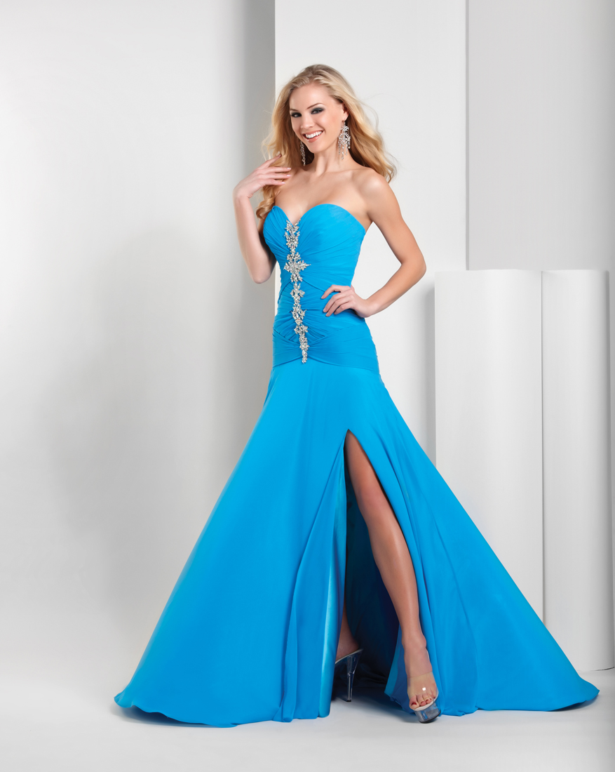 long prom hairstyles: mermaid prom dresses give you sea maid look