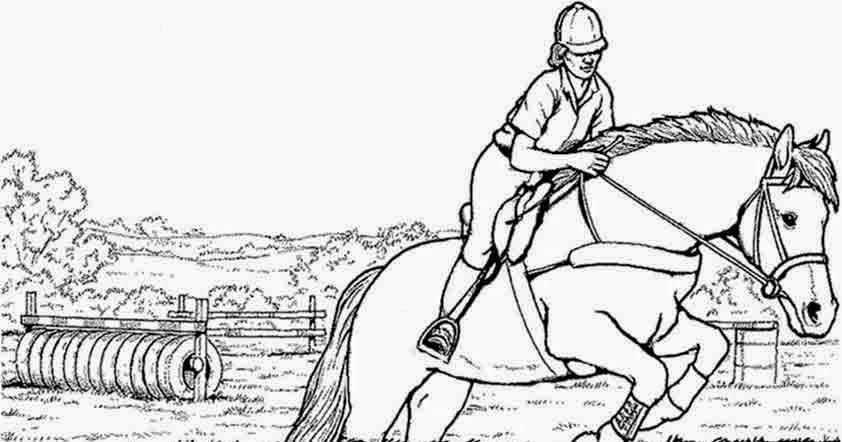 Ausmalbilder Pferde Und Reiter Kostenlose Malvorlage Pferde