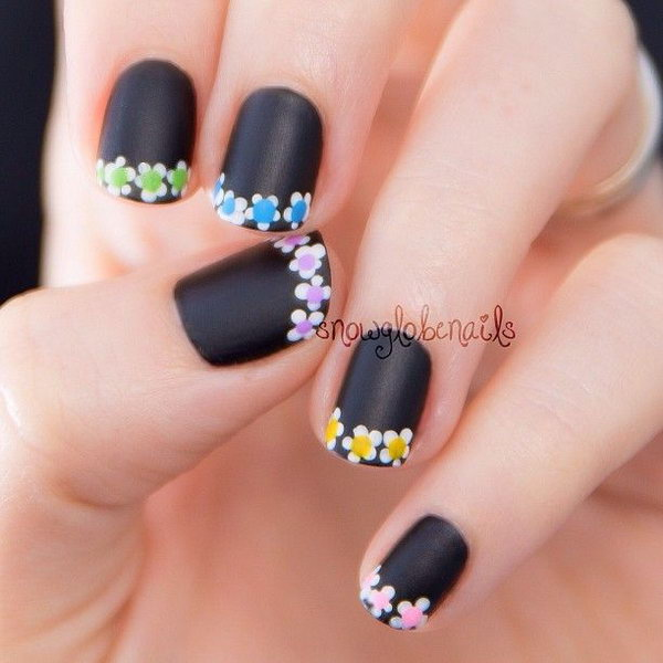 French fashion nail art designs 2016 fashion newbys mod half moon and french nails prinsesfo Gallery