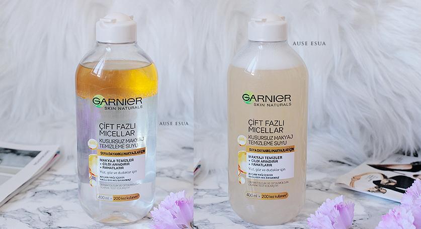 Garnier Argan Yağlı Makyaj Temizleme Suyu │  Garnier Argan Yağlı Micellar Su  ♡ │ AUSE ESUA