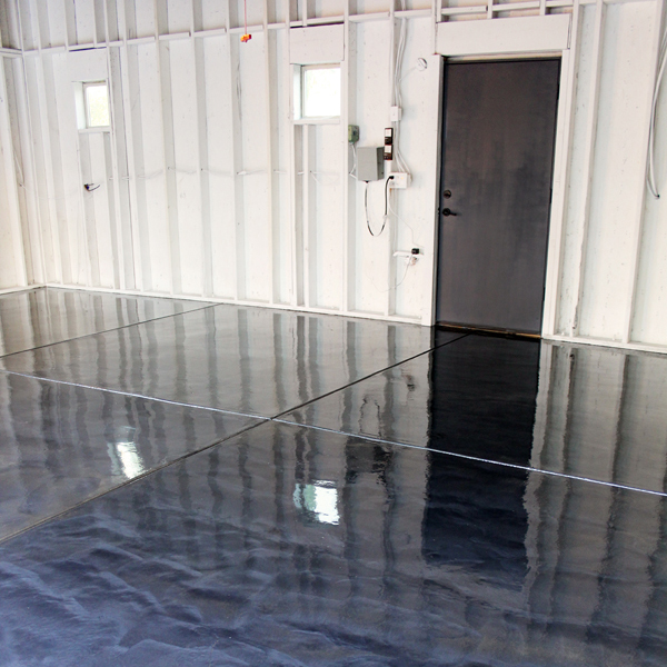 diy with style} How to Apply RockSolid Metallic Garage Floor Finish How To Paint Garage Floor on spray paint garage floor, base concrete floor, diy acid stained concrete floor, painted concrete floor,