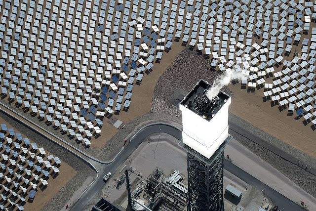 Concentrated Solar Thermal Plant in Mojave Desert, California