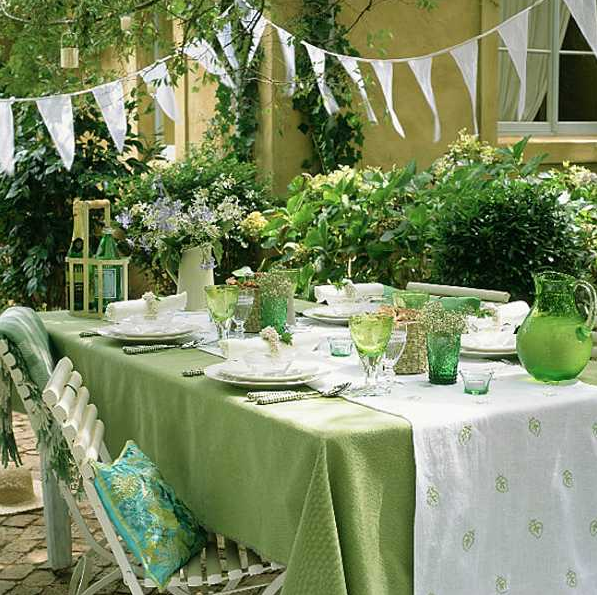 mesa de ano novo verde