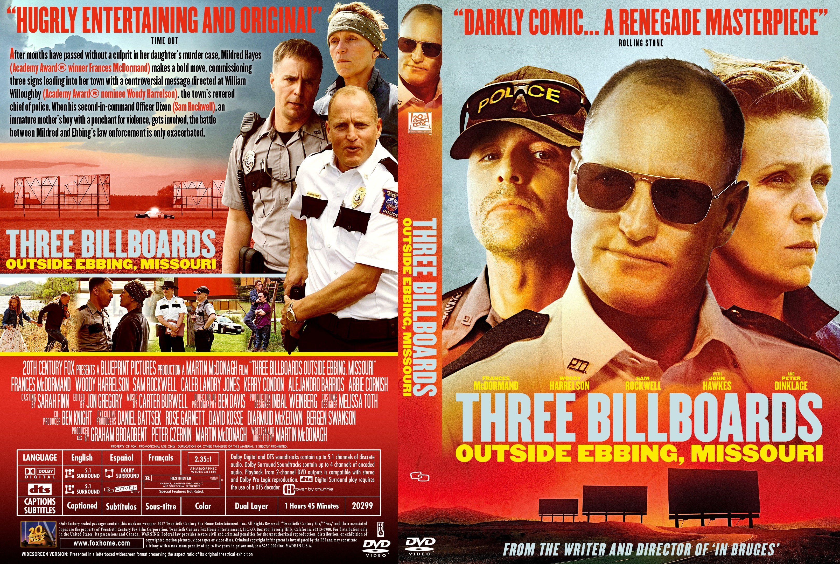 Three billboards outside ebbing missouri dvd cover cover addict three billboards outside ebbing missouri dvd cover malvernweather Images