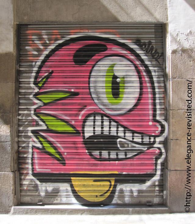 Barcelona shop shutters