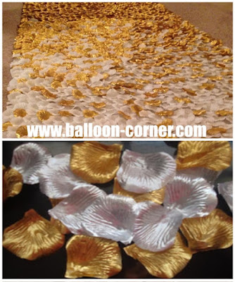 Rose Petals Warna Silver & Gold Metalik