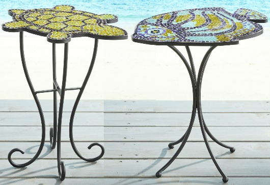 Coastal Mosaic Side Tables