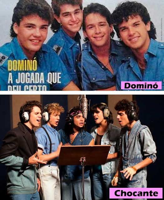 Dominó e Chocantes grupo anos 80