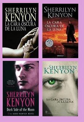 portadas del libro La cara oscura de la luna, de Sherrilyn Kenyon