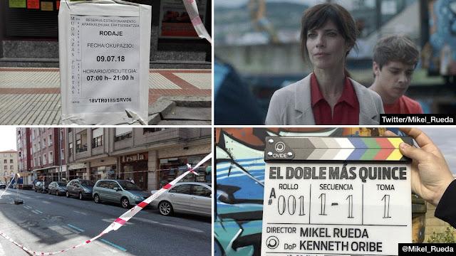 Cartel de reserva para el rodaje en San Vicente e imágenes de la película