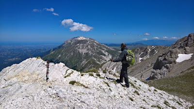 Looking from Sella di Corno Grande to Adriatic Sea