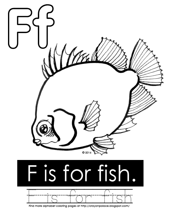 f for fish coloring pages - photo #27