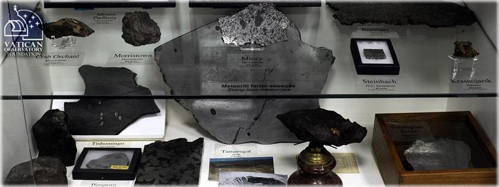 coleção meteoritos do vaticano