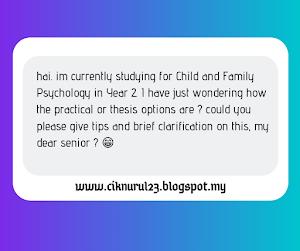 Praktikal atau Thesis? | Psikologi Kanak-Kanak & Keluarga