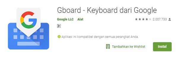 cara instal bitmoji keyboard di Android