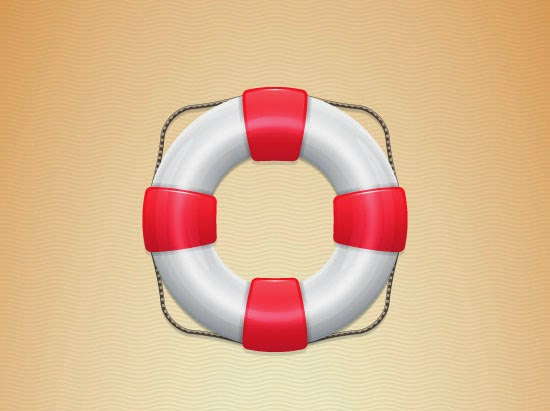 Create a Detailed Lifebuoy Illustration