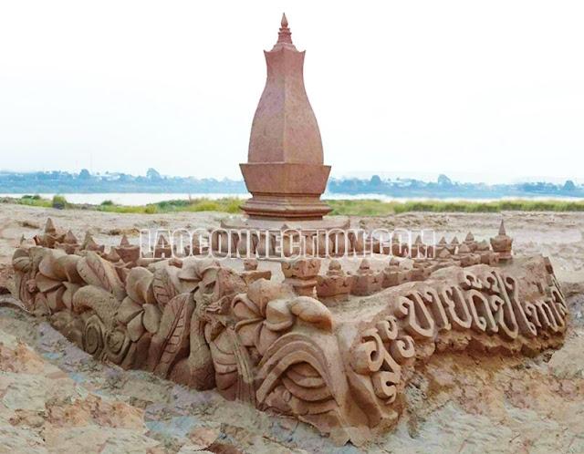 Lao New Year sand stupa