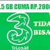 Kenapa Paket Tri 2.5 GB 2000 Tidak Bisa? Ini Penyebabnya