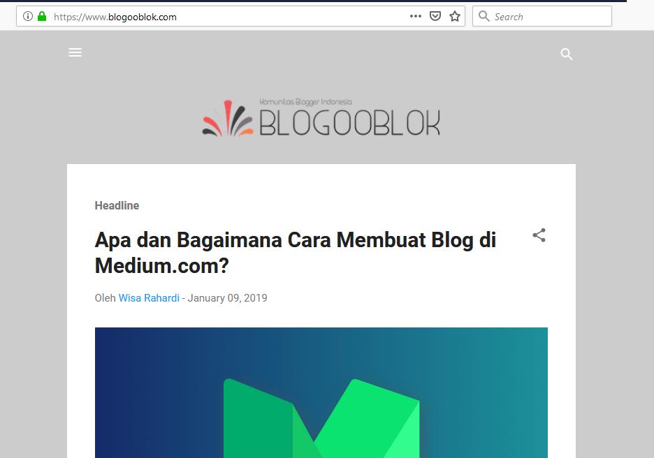 Mengenali Blog Dari Platform Blogspot