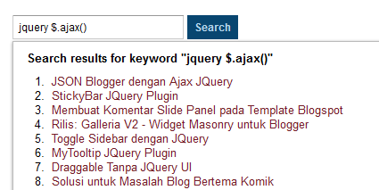 Ajax Search Form with jQuery